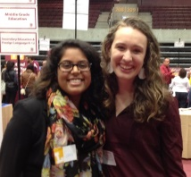 Pictured from left to right: Sania Zaffar and Becky Kreidler (not pictured Monica Donnely)