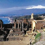 View of Taormina from the Greek Theater!