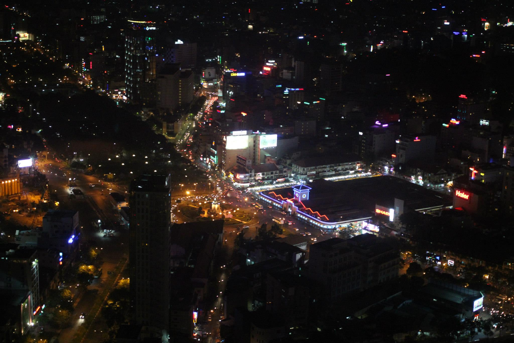 From the 52nd floor of the Bitexco Building, tallest in HCMC