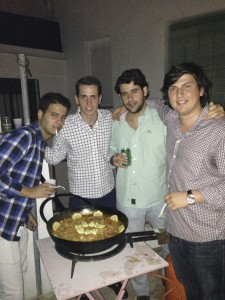 Four Hot Men and Paella