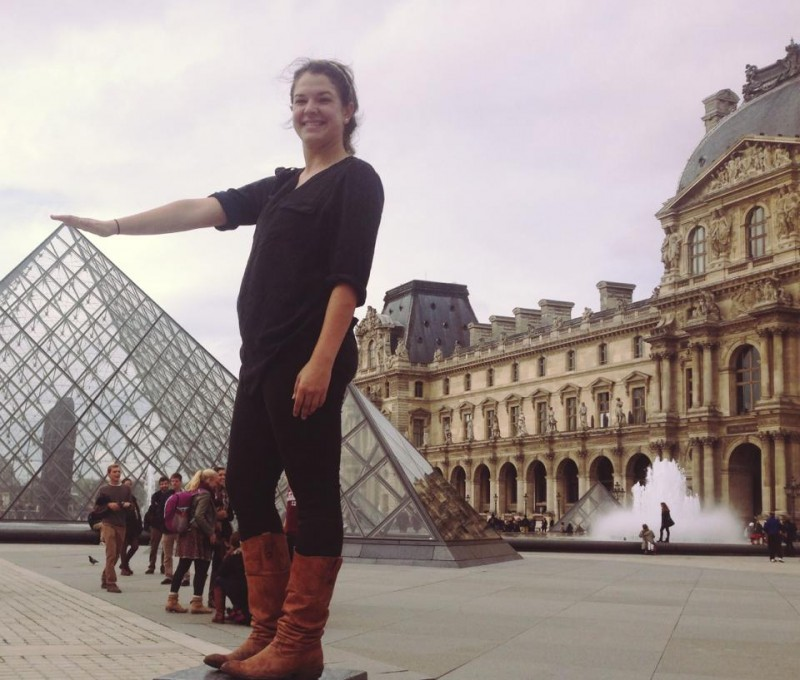 Megan Hanning-Bean at the Louvre