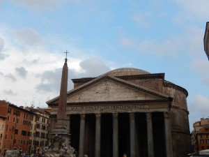 Pantheon before dusk.