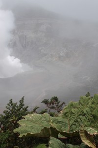 This is Volcan Poas. It was a little misty and foggy, but it was still beautiful.