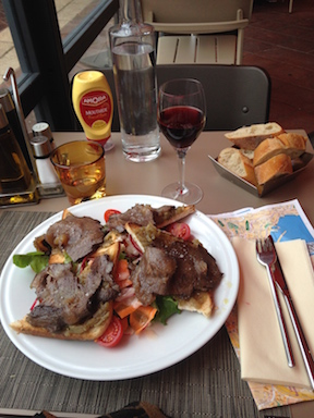 A beef appetizer in Nice France