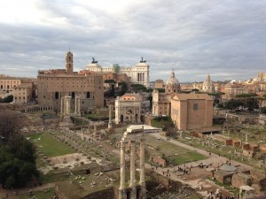 View from the top of the Roman Forum