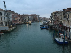 Venice at 6 in the morning from the Rialto Bridge.