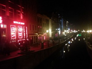 The city gets all lit up in the Red Light District!
