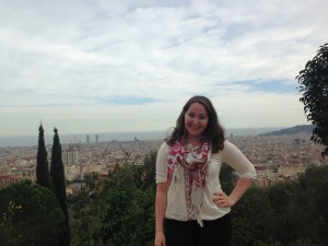 Standing atop Park Guell