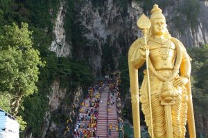 Famous statue outside of the Batu Caves