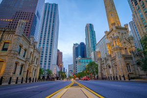 Chicago street, Michigan Ave