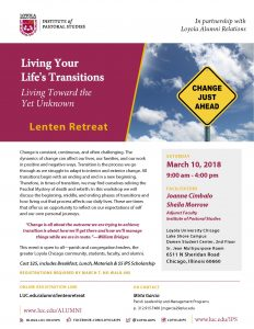 "Photos from Lenten Retreat: ""Living Your Life's Transitions"""