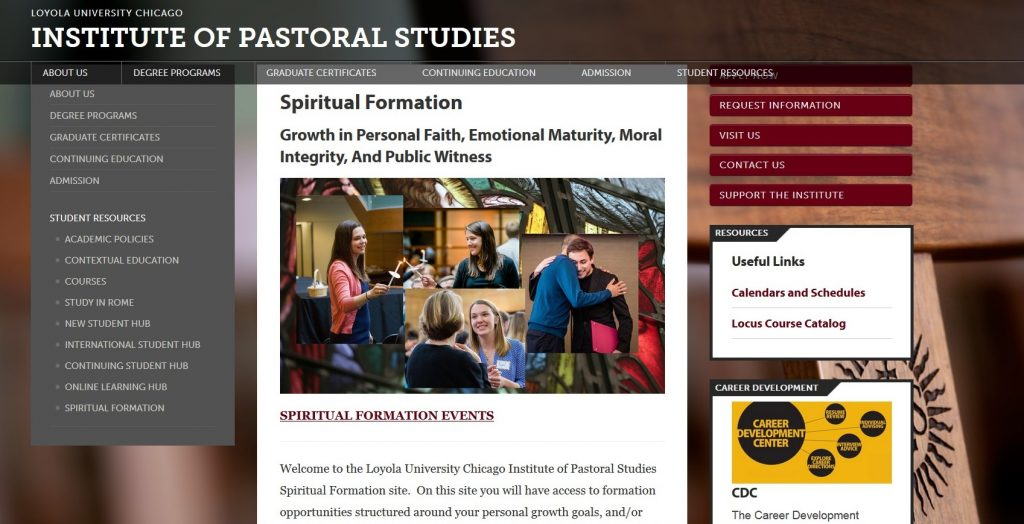 IPS Launches Spiritual Formation Webpage