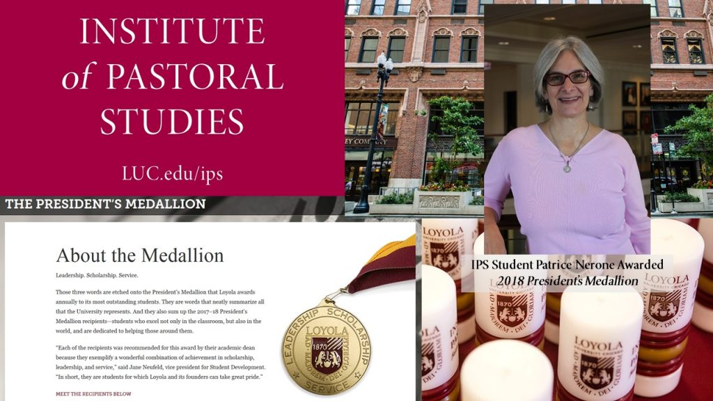 IPS Student Patrice Nerone Awarded 2018 President's Medallion