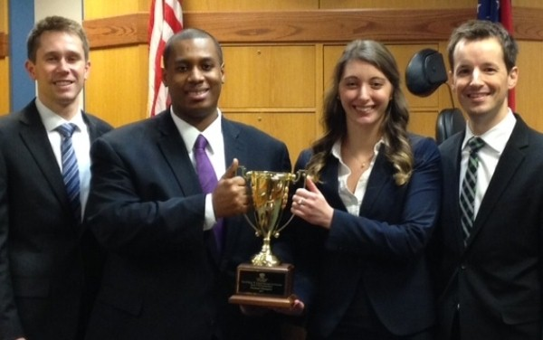 Pictured above, left: William W. Daniel National Mock Trial Competition Champions Josh Cauhorn, Jonathan Armstrong, Samantha Lemke, and Matt Anderson