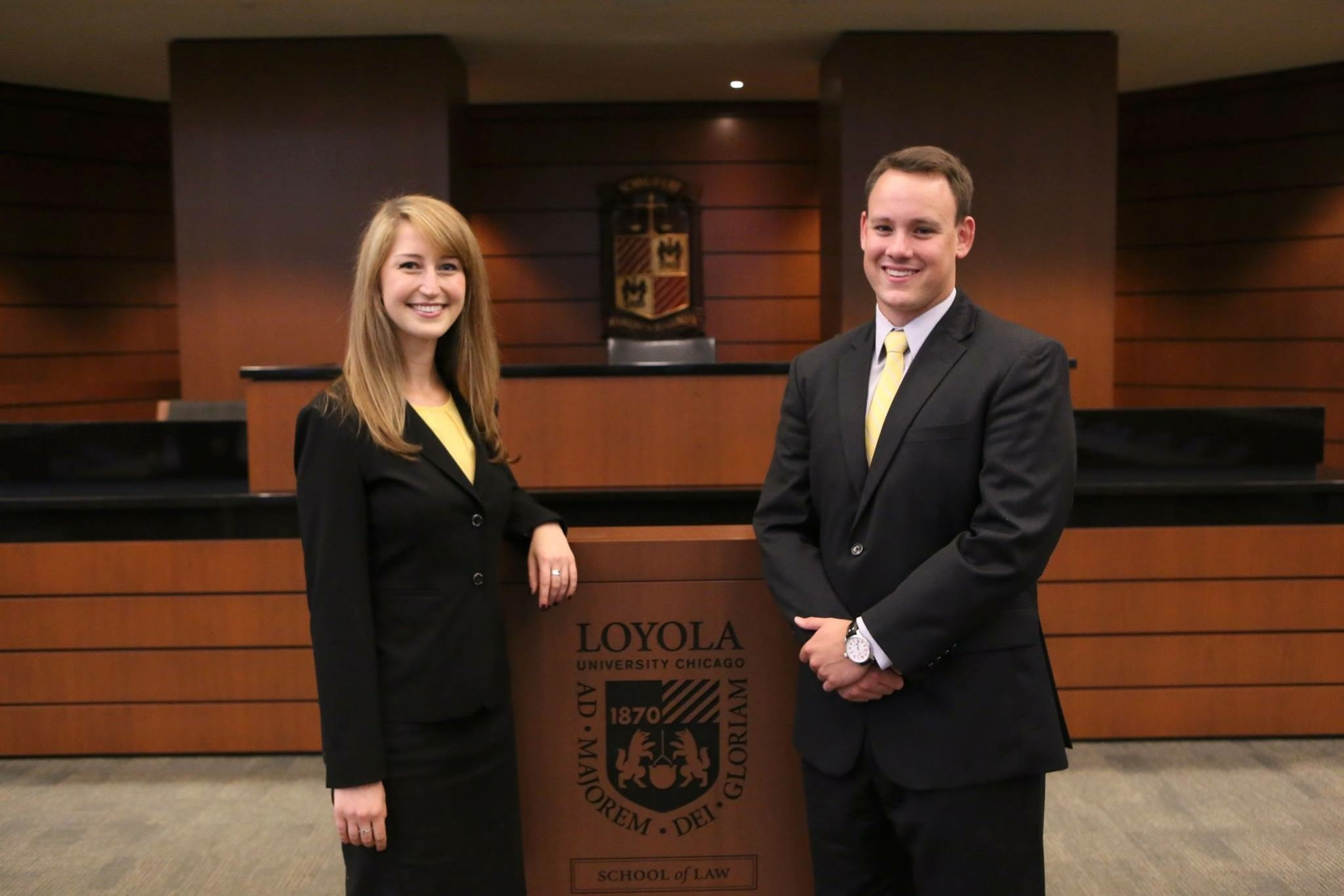 Joe and me for our moot team photo