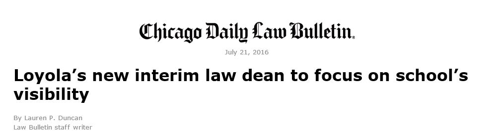 Chicago Daily Law Bulletin.