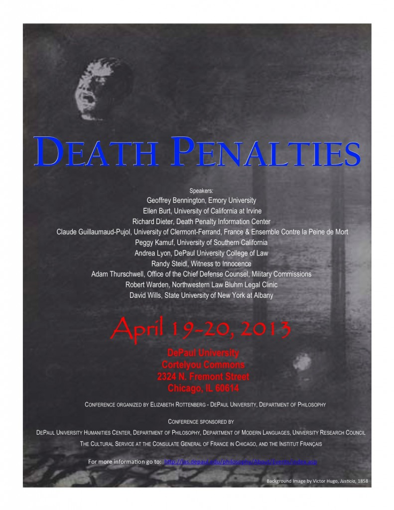 Death Penalties Conference, De Paul, Apr. 19-20