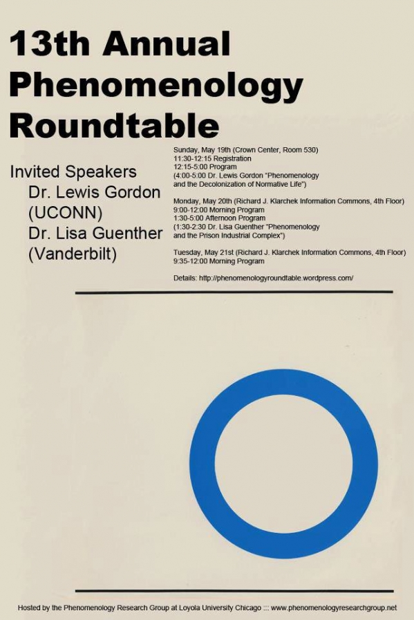 13th Annual Phenomenology Roundtable, Loyola, May 19-21