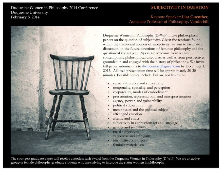 CFP: Subjectivity in Question