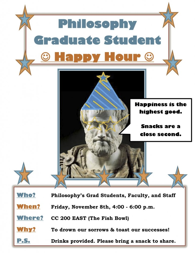 Philosophy Grad Student Happy Hour!