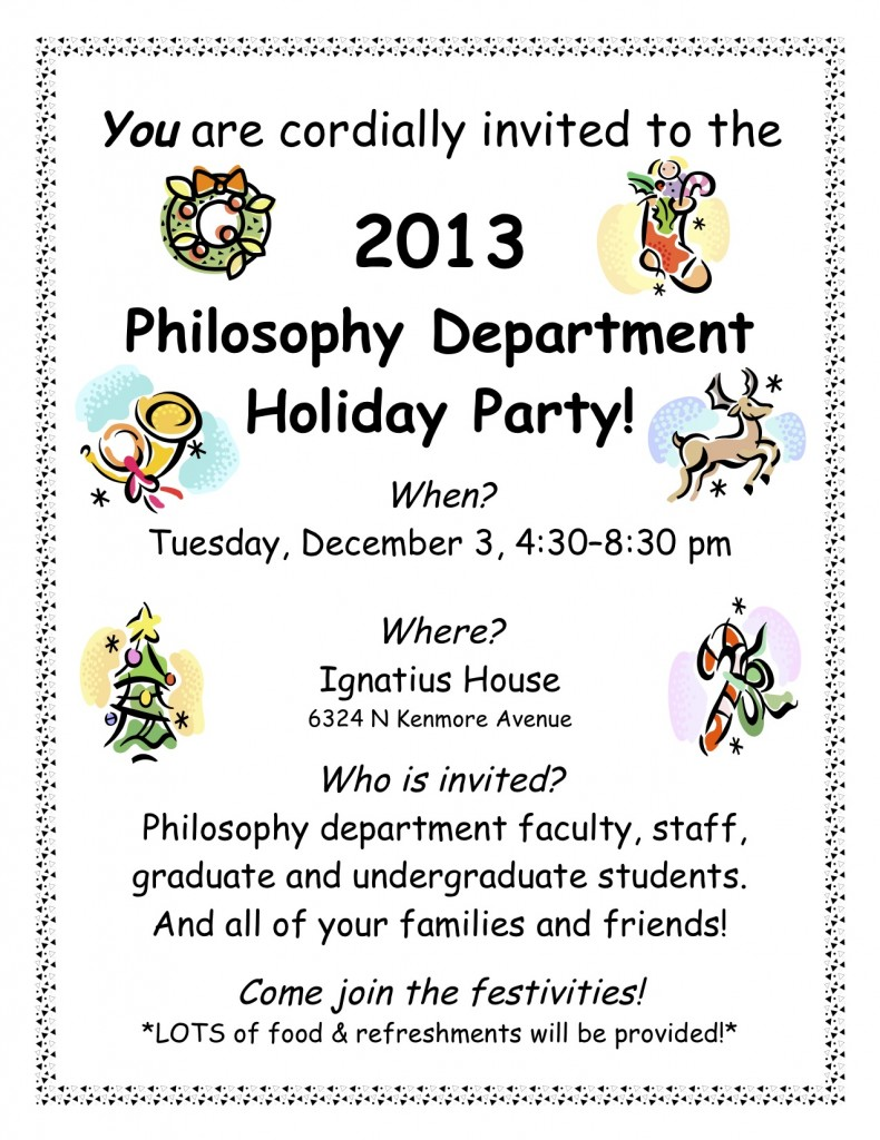 Holiday Party on Tuesday!