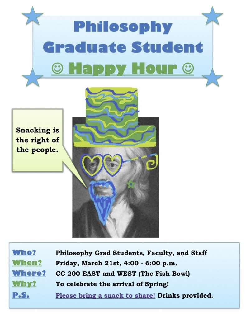 Graduate Student Happy Hour!! March 21