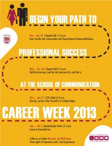 School of Communication Career Week 2013