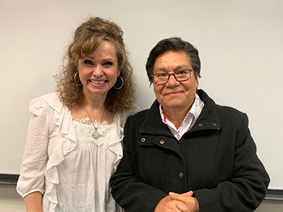 Dr. Vidal de Haymes and Sister Magna at Loyola and Alianza Americas Event 2019.
