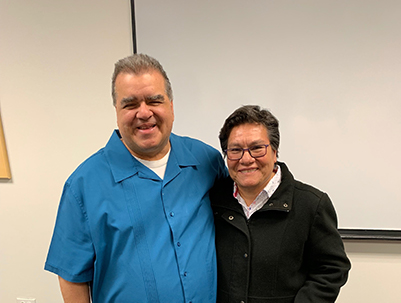 Ivan Medina and Sister Magna at Loyola and Alianza Americas Event 2019.
