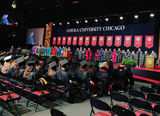 Loyola Commencement 2019 Social Work Faculty and Administrators