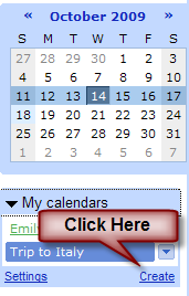 Create a Shared Google Calendar