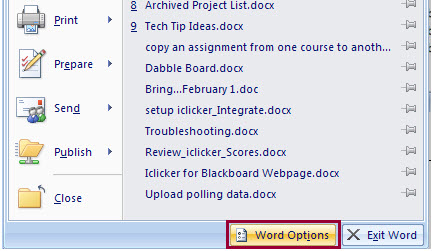 word-options-button