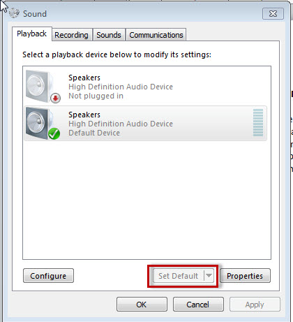 Recover Audio Playback when using a Microphone