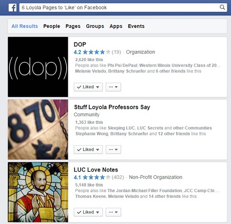 6 Loyola Related Pages to 'Like' on Facebook