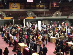 The department fair at Loyola's October Open House.