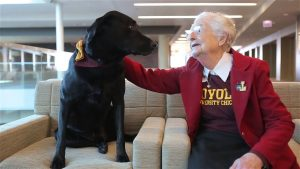 Loyola's Celebrities: Sister Jean and Tivo