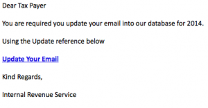 January 7, 2014 Phishing Report
