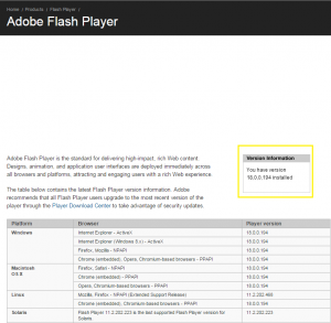 ADOBE FLASH PLAYER INSTALLATION INSTRUCTIONS